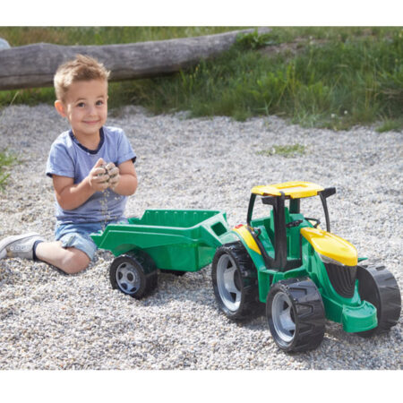 Veliki deciji traktor sa prikolicom