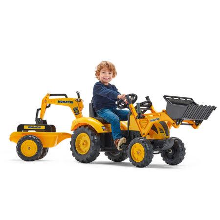 Traktor Komatsu sa prikolicom