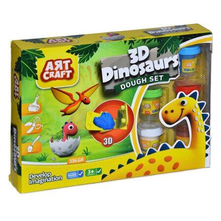 Plastelin za igru 3D dinosaurusi