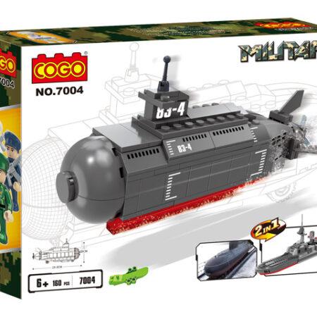 Kocke 3D 2u1 Podmornica i Ratni brod
