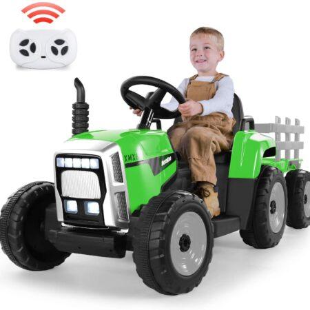 Traktor na akumulator sa prikolicom
