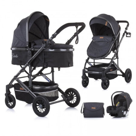 Kolica za bebe 3u1 Estelle asphalt
