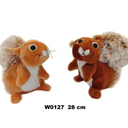 Plišana veverica 28 cm